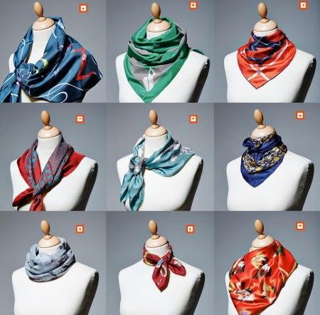 Идеи как красиво завязать шарфик на шее. Стильные варианты завязывания шарфов