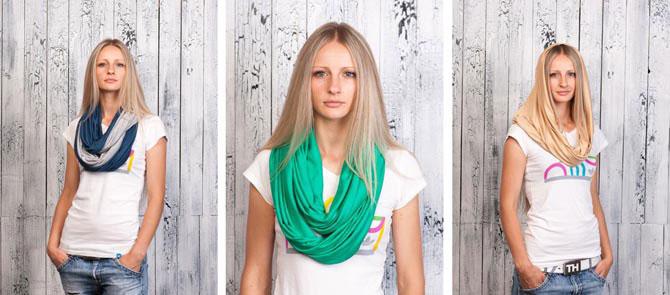 Как завязать легкий шарфик