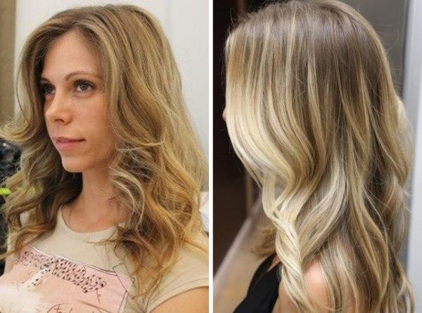 Колорирование волос на русые волосы средней длины. Модные стили и оттенки колорирования