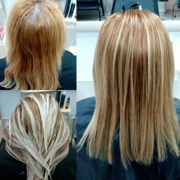 Мелирование на русые волосы средней длины. Кому идет, фото и техника выполнения