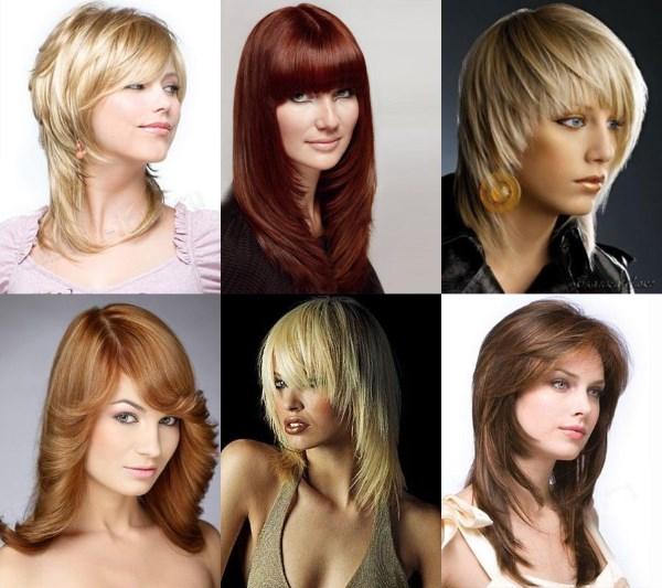 Модные прически на «Каскад» для средней длины волос. Фото