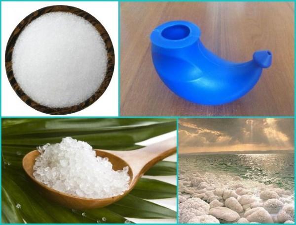 Промывание носа морской солью в домашних условиях. Рецепт раствора и техника промывания