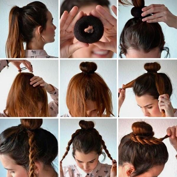 Как сделать красивый пучок на длинные волосы своими руками. Пошаговая инструкция, фото