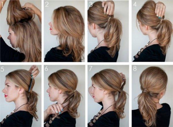 Прическа каскад на волосы средней длины каскад