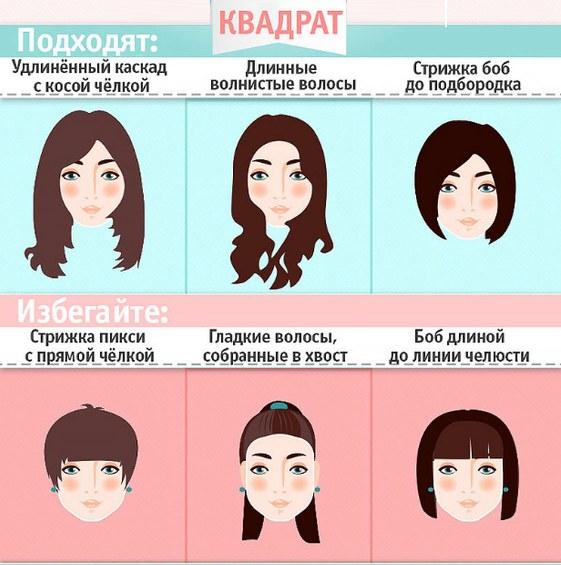 прически для квадратного лица женские длинные волосы