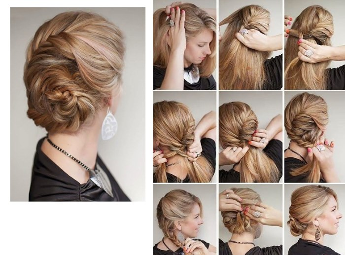 прически с помощью петли для волос поэтапно