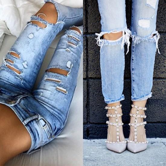 Как сделать джинсы рваными 2017 719