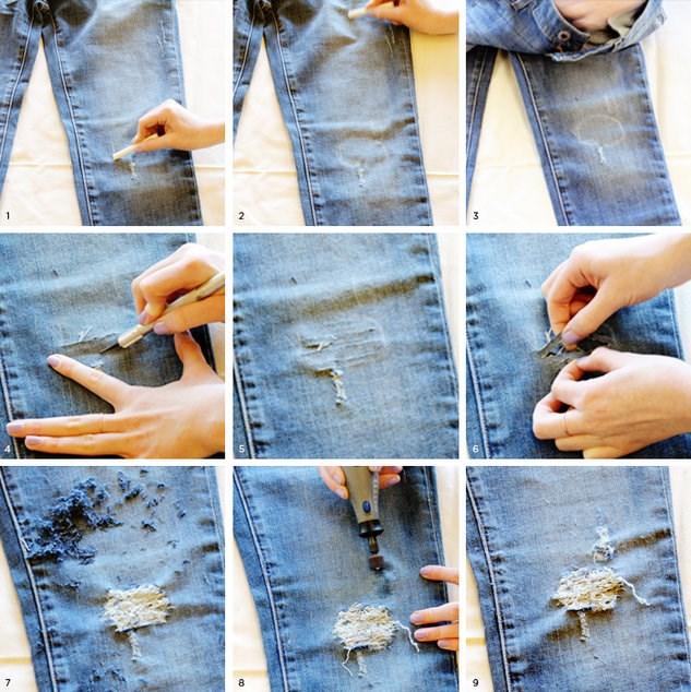 Как из старых джинс сделать модные джинсы ребенку