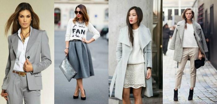 С каким цветом сочетается серый в одежде, к каким цветам он не подходит. Фото