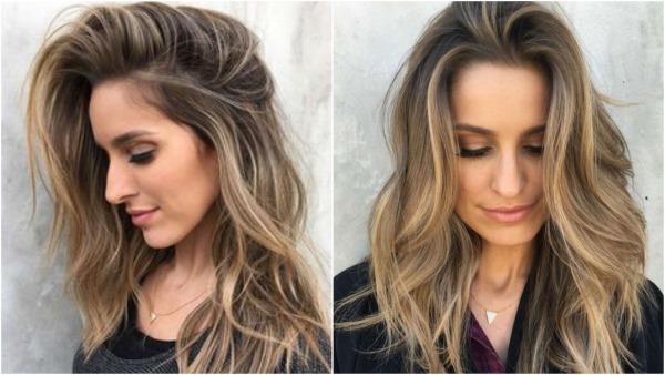 Двойное окрашивание со светлым и темным цветами. Пошаговая инструкция, модные оттенки на средние, длинные и короткие волосы. Фото