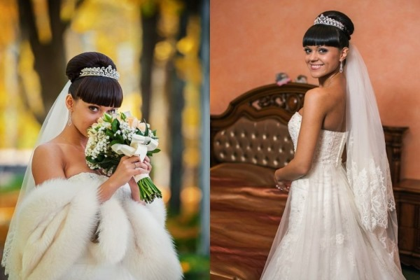 Свадебные прически на средние волосы с фатой: новинки 2019, пошаговое выполнение, инструкция, фото