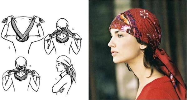 Как красиво завязывать платок на голову: к пальто, по мусульмански, теплый зимой, как ободок летом, казашке. Фото и пошаговые инструкции
