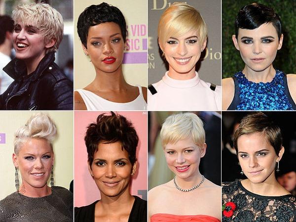 Актрисы с короткими стрижками. Знаменитые блондинки и брюнетки