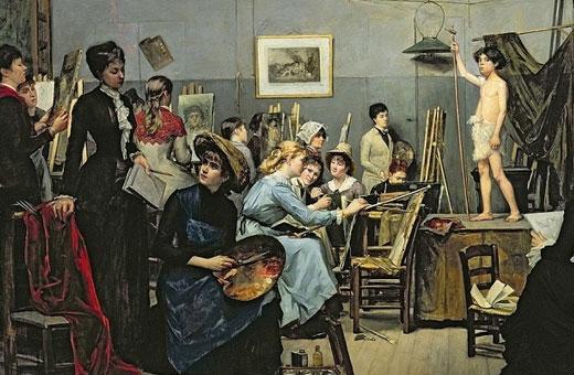 Знаменитые женщины-художницы. Великие русские и иностранные, известные картины