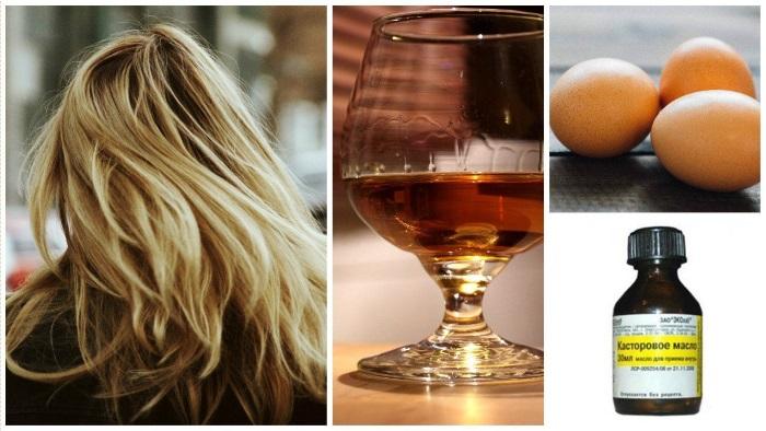 Маски для волос с коньяком и яйцом, медом, касторовым, оливковым маслом, кофе. Польза и эффективность