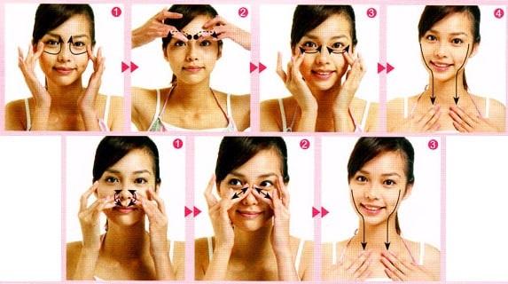 Массаж лица подтягивающий, против морщин. Техника, как делать пошагово, фото до и после, противопоказания