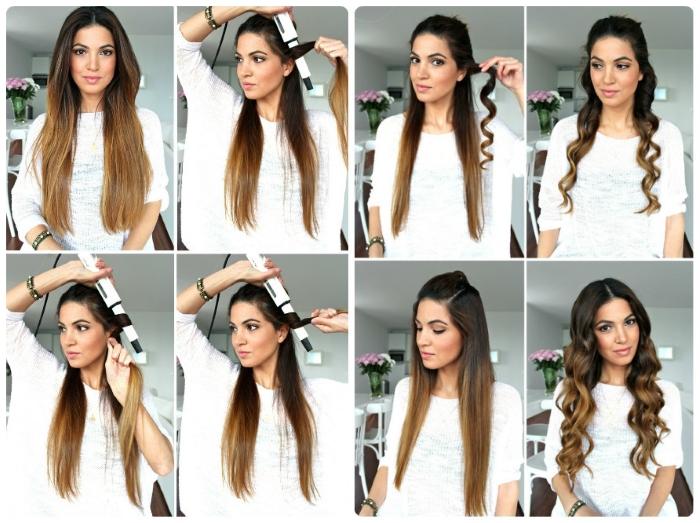 Прически с локонами на длинные волосы. Фото, как сделать укладку с челкой пошагово своими руками