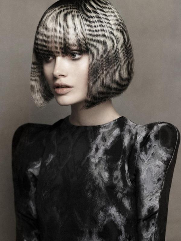 Красивое окрашивание на средние волосы. Фото с челкой и без, техники