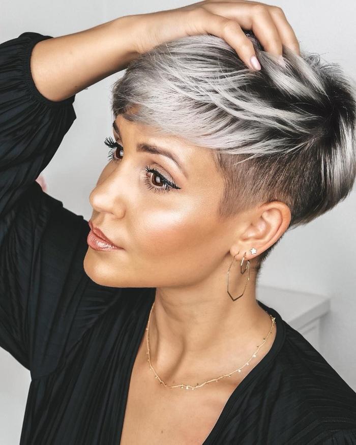 Пепельный цвет волос на короткие волосы. Фото для женщин, парням, с челкой и без