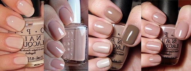 Маникюр на короткие ногти пастельные тона. Фото гель-лак перышко, розовый и коричневый, матовый с рисунком