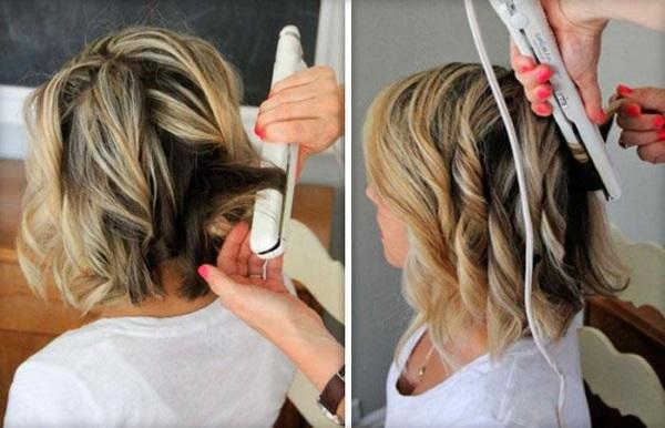 Как накручивать волосы на утюжок на короткие, длинные, чтобы держались кудри