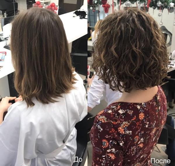 Легкая химия на короткие волосы. Фото до и после с челкой и без, как сделать