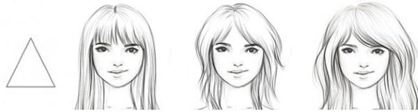 Стрижки для треугольного лица женщин и мужчин, тонких волос. Фото, техники