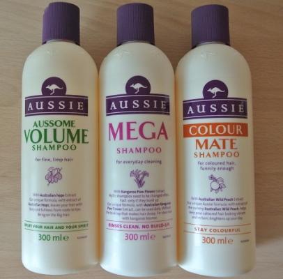 Aussie (Аси) шампуни. Отзывы, состав Repair Miracle, Aussome Volume, Colour Mate, Mega Instant, Miracle Moist
