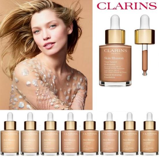 Кларанс (Clarins) тональный крем. Отзывы для жирной, сухой, комбинированной кожи. Skin Illusion, Teint Haute Tenue, матирующий, с лифтинг-эффектом