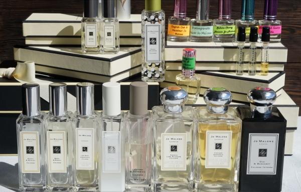 Jo Malone (Джо Малон). Отзывы об ароматах, цена Wood Sage Sea Salt, Wild Bluebell, Peony Blush Suede, Blackberry Bay, Pomegranate Noir