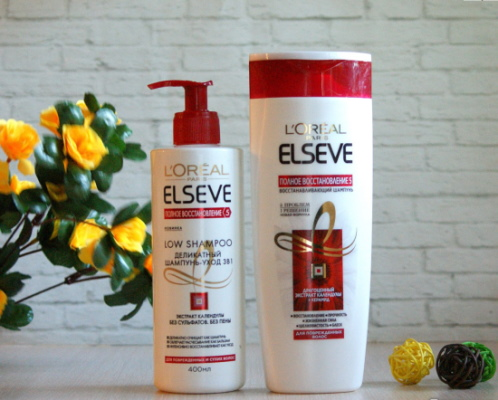 Шампуни L'Oreal Elseve (Лореаль Эльсев) без сульфата для окрашенных, длинных, жирных волос. Отзывы, цены