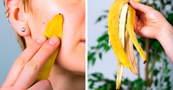 Кожура банана для лица. Польза, вред, рецепты от прыщей, синяков в косметологии