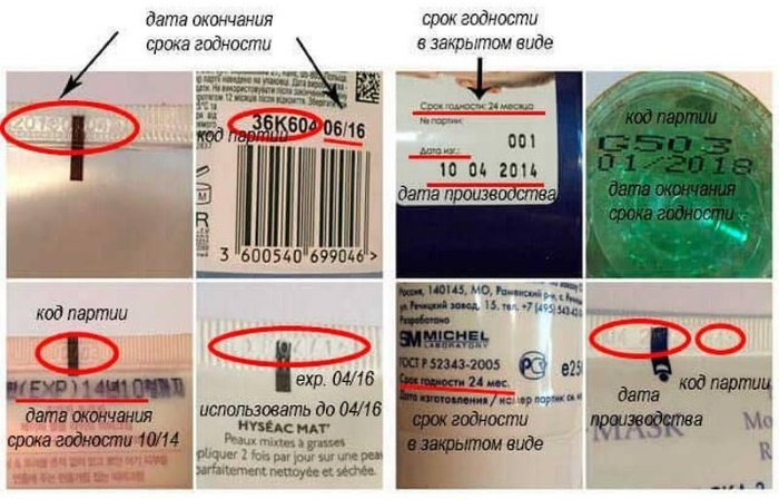 MFG date (manufacturing). Что это значит на упаковке косметики, как определить срок годности
