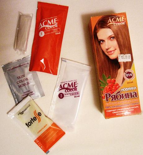 Краска для волос Рябина. Палитра цветов, фото, отзывы